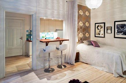 Slaapkamer Woonboerderij Coby : Slaapkamer met kunstmuur inrichting huis.com