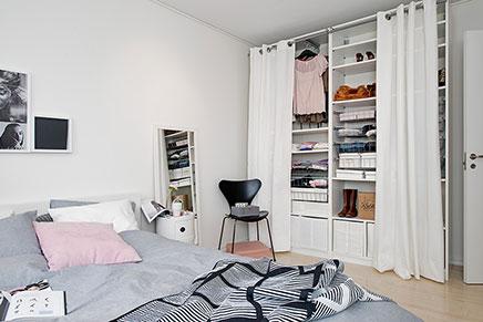 Inloopkast Met Gordijnen : Slaapkamer met inloopkast inrichting huis