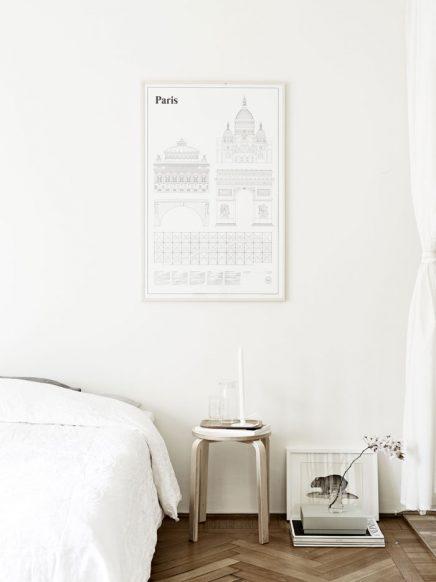 Slaapkamer met een mix van Scandinavische en Japanse stijl ...