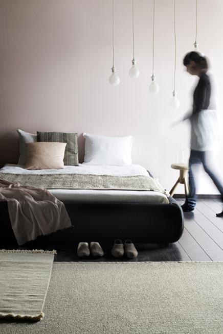 Slaapkamer met mooie kleurencombinatie