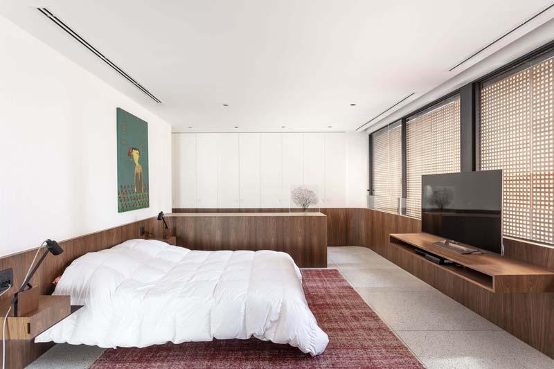 slaapkamer ontwerp notenhout