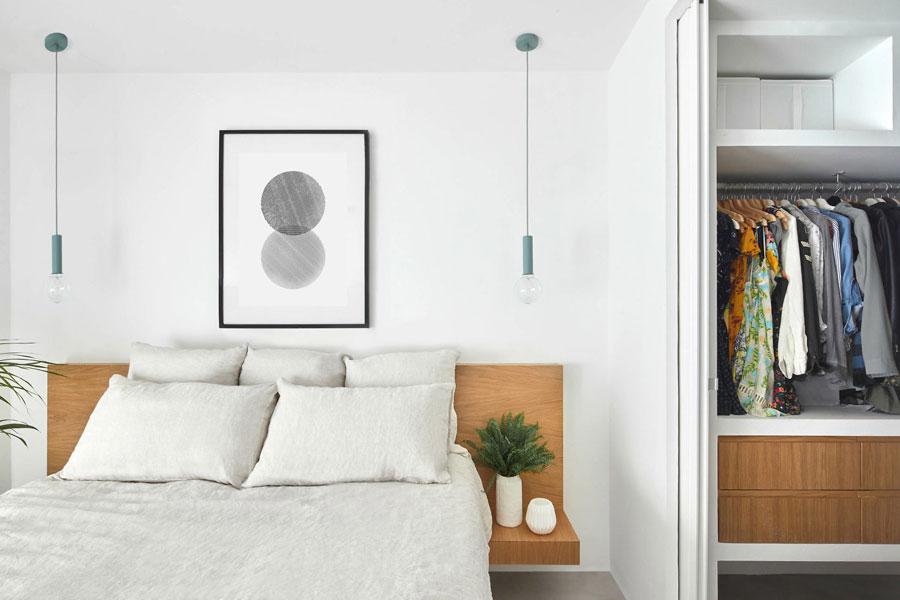 slaapkamer op maat schuifdeur inloopkast