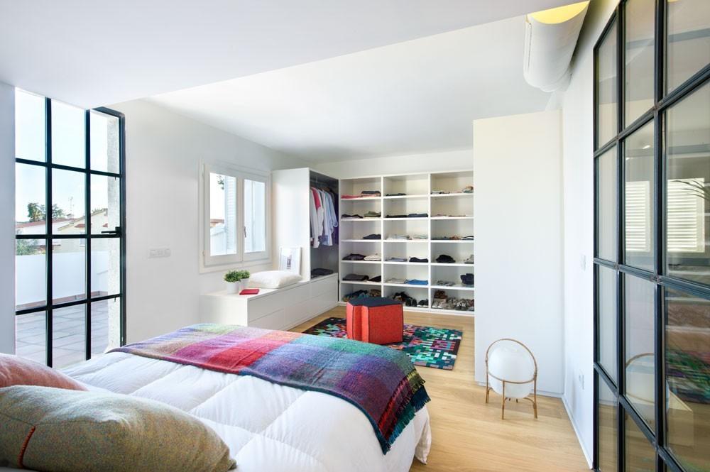 Slaapkamer met open loft karakter