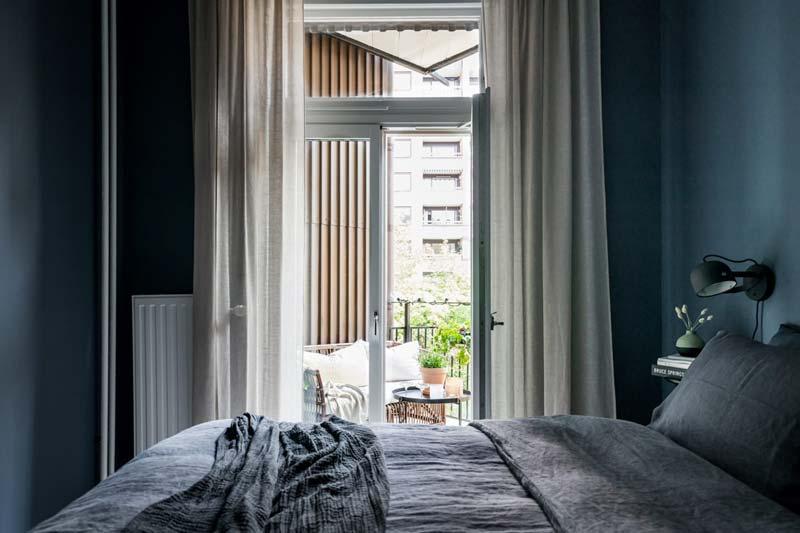 slaapkamer openslaande deuren balkon