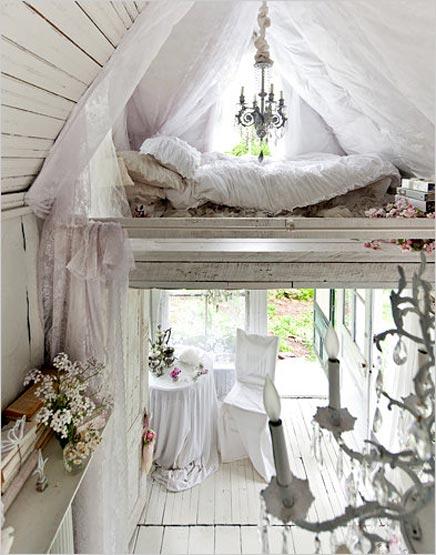 slaapkamer van een romantisch huisje | inrichting-huis, Deco ideeën
