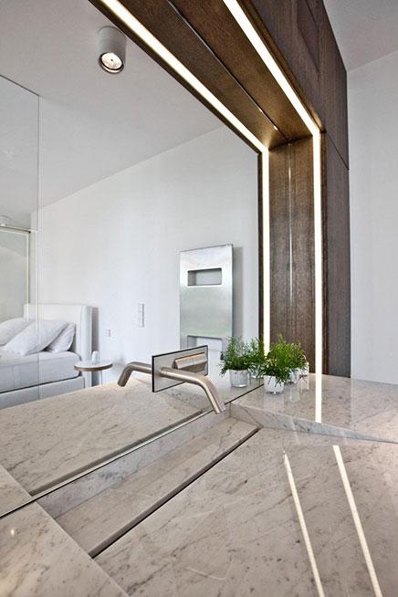 Slaapkamer met sfeer van een designhotel
