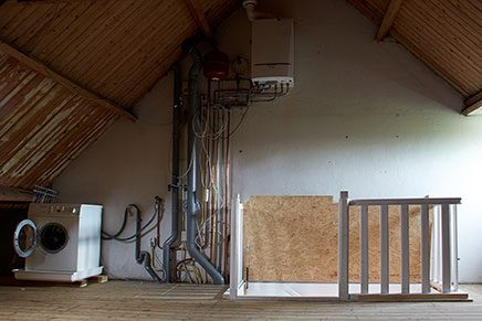 Slaapkamer verbouwing op zolder