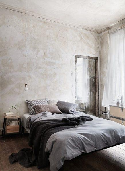 Slaapkamer met vintage industriële look