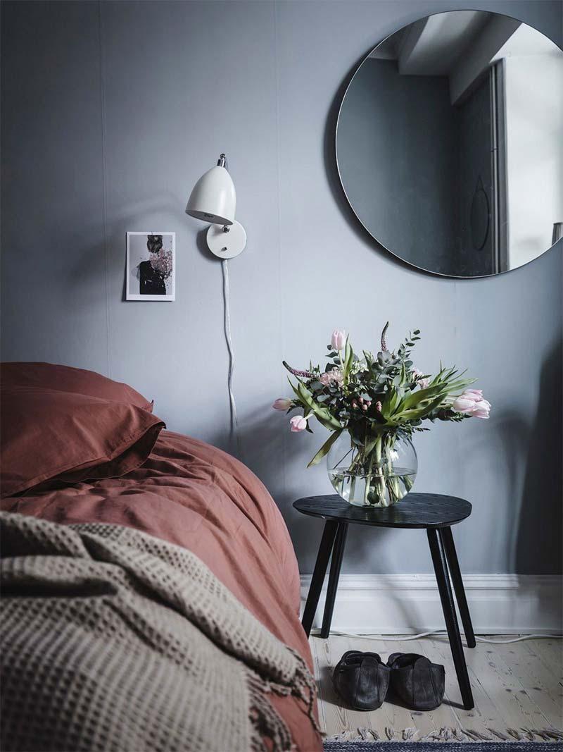slaapkamer warm inrichten dekbed