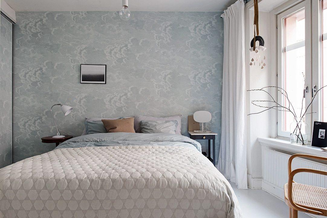 Slaapkamer wolken behang