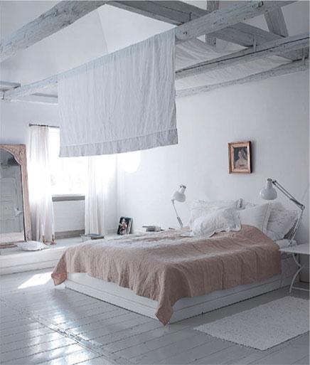 Slaapkamer op zolder in kopenhagen inrichting - Kleur slaapkamer bebe ...