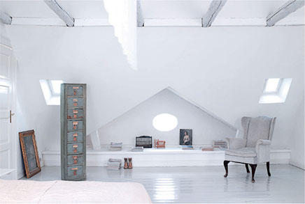 Slaapkamer op zolder in Kopenhagen