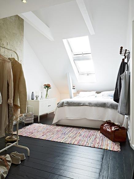 Slaapkamer op Zweedse zolder