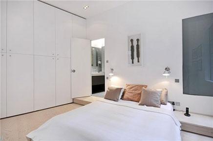 Slaapkamers oud pakhuis appartement in Londen