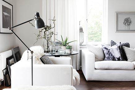 Woonkamer Met Grijstinten : Smaakvolle woonkamer van interieurstylist daniella witte