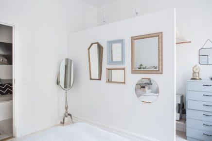 Smalle DIY inloopkast in slaapkamer