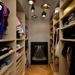 Narrow walk in walk in closet by architect Charlotte MACAUX Perelman
