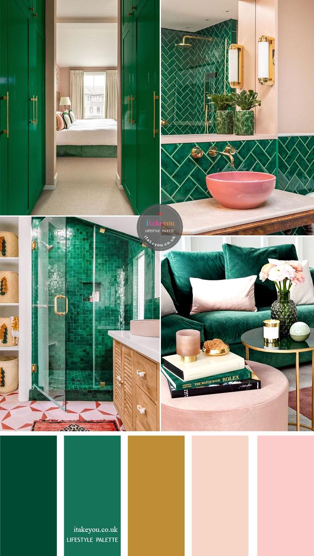 smaragdgroen combineren luxe