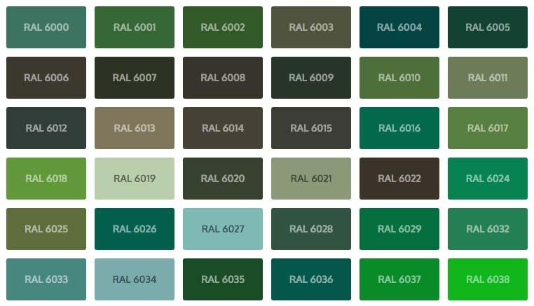 smaragdgroen ral kleuren