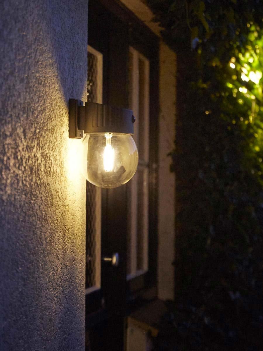 solar tuinverlichting avond wandlamp