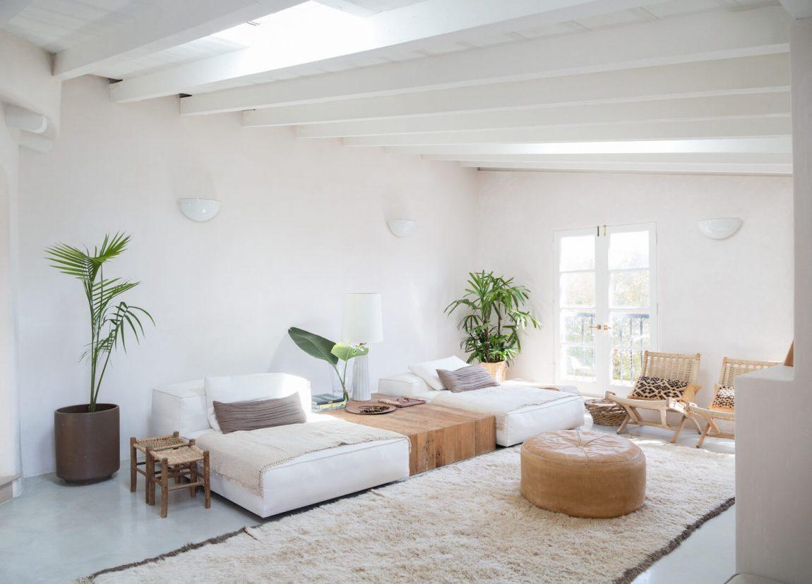 Spaans huis in LA natuurlijke materialen en neutraal kleurenpalet ...