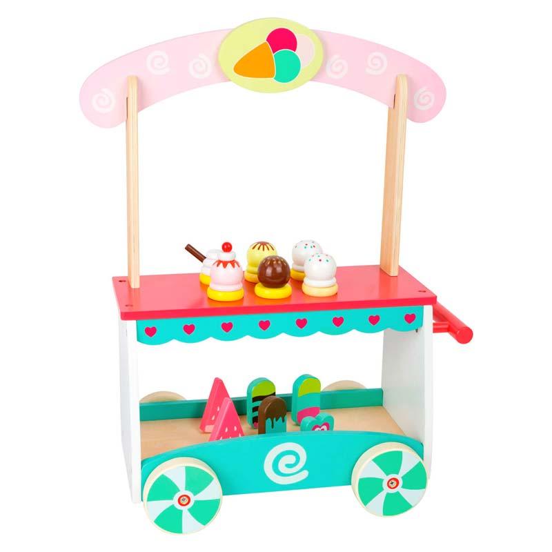 speelgoedwinkeltje houten ijscokar