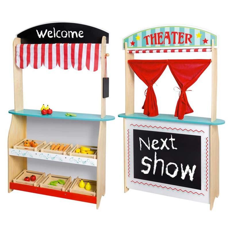 speelgoedwinkeltje theater winkel in een