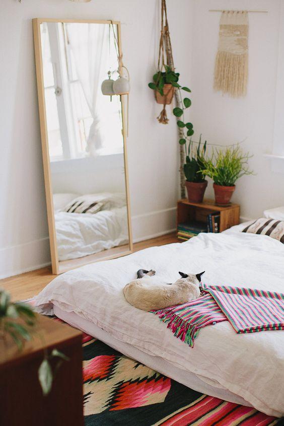 Spiegel in de slaapkamer
