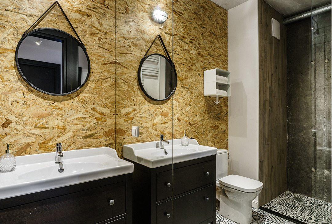 Kleine badkamer met stoere materialen | Inrichting-huis.com