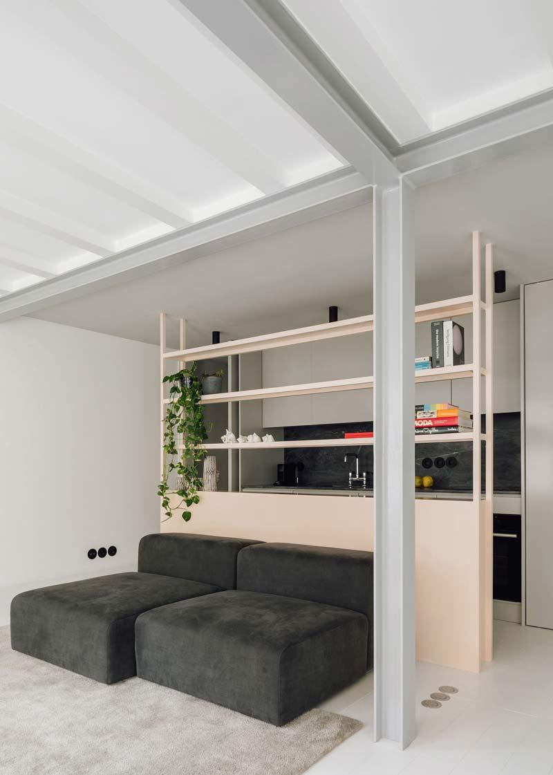 Stalen structuur modern interieur