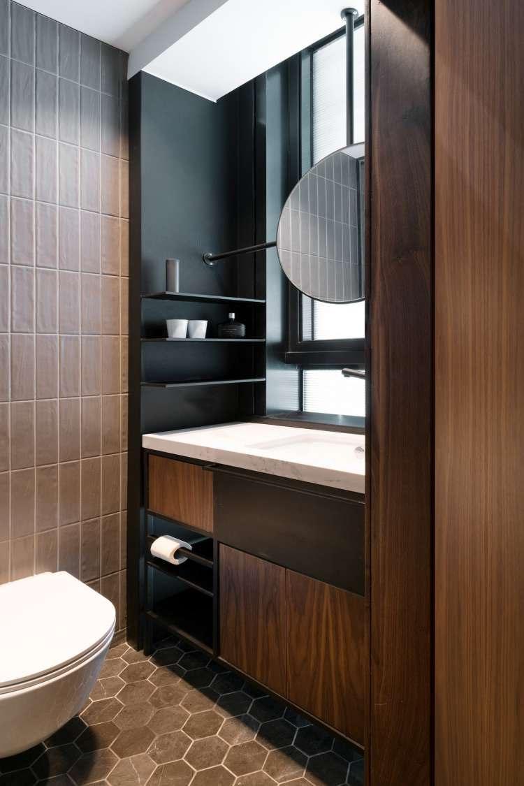 Stijlvol slaapkamer suite ontwerp met inloopkast en badkamer