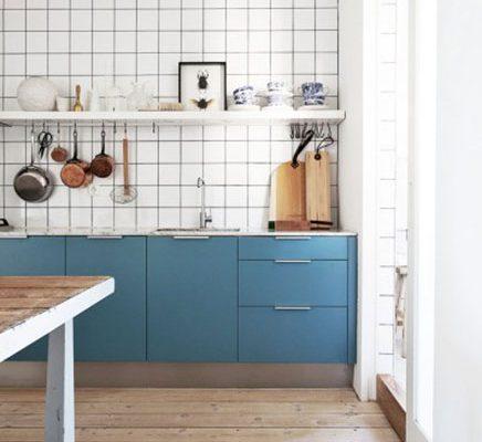 Stijlvolle blauwe keuken