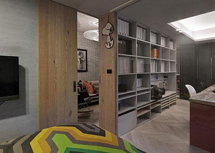 Stijlvolle huis kantoor combinatie in Taipei