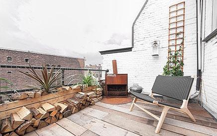 Stoer balkon in Haags appartement