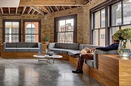 Stoer kantoor van creatief bureau mad inrichting - Moderne kantoorbureaus ...