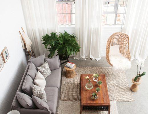 Stoer loft appartement vol natuurlijke kleuren en materialen
