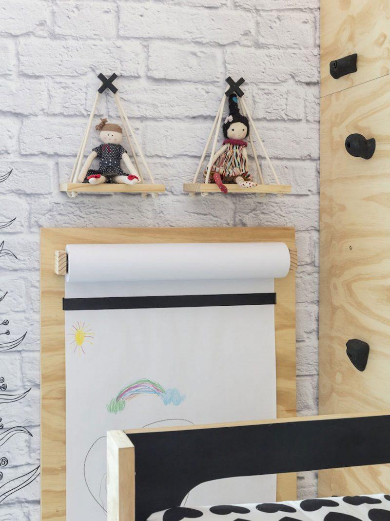 Stoer ontwerp van een kinderkamer voor een tweeling