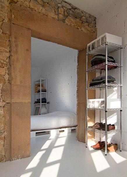 Stoere budget loft slaapkamer