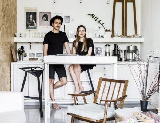 Stoere creatieve woonkamer