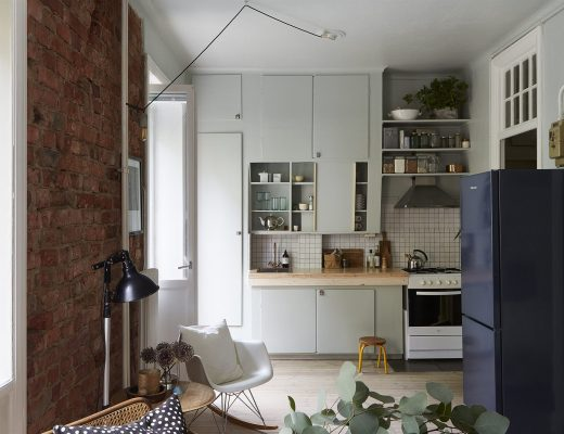 Stoere DIY mintgroene keuken