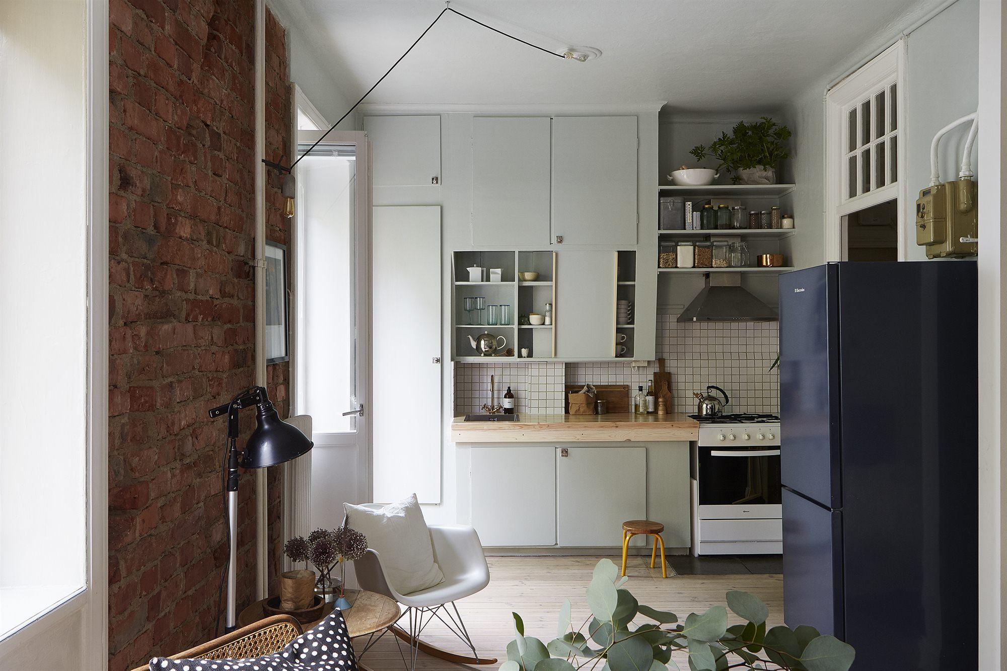 Stoere diy mintgroene keuken inrichting huis