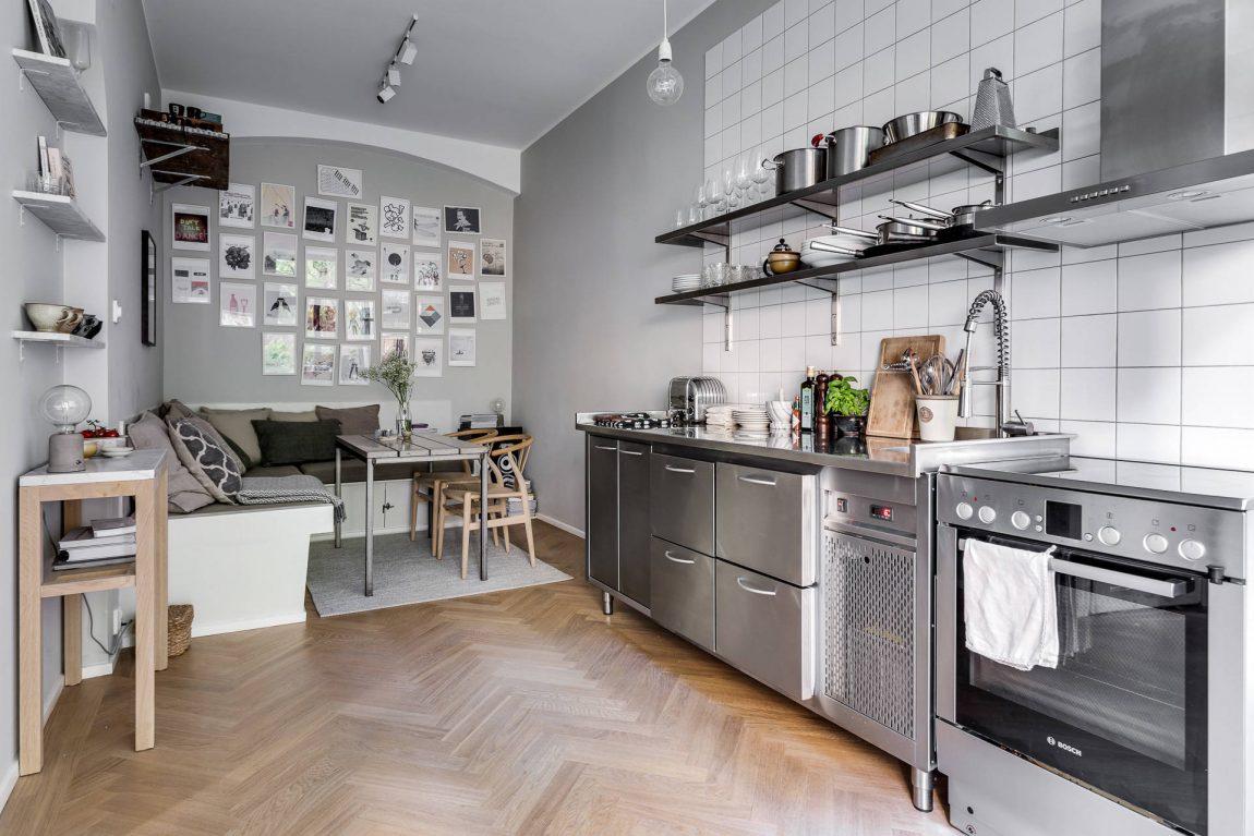 Stoere keuken met gezellige eethoek woonkamer inrichting Gezellige woonkamer