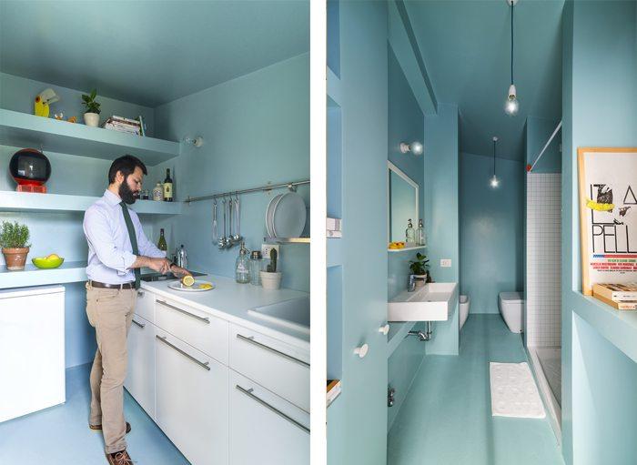 In dit stoere kleine appartement vind je hele leuke en praktische ideeën