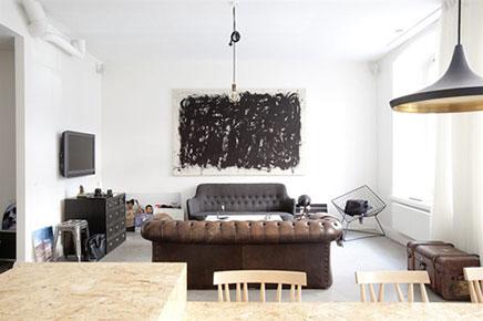 stoere woonkamer inrichting huis