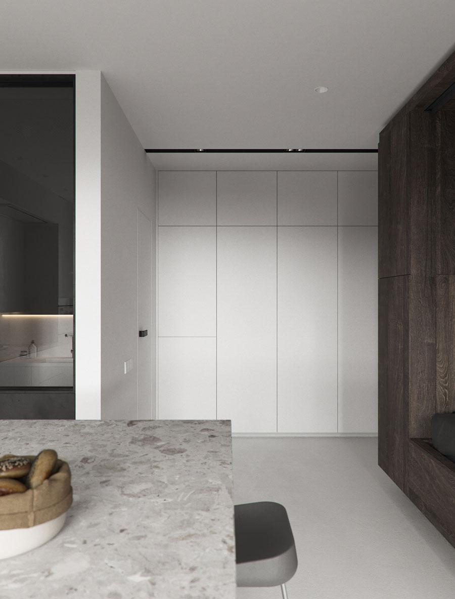 strakke inbouwkast klein appartement