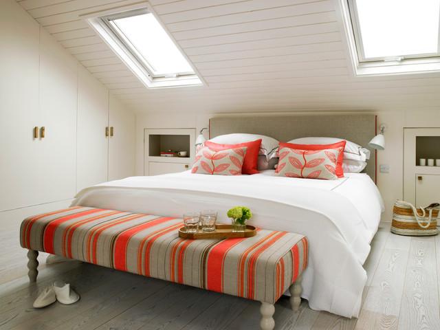 strakke inbouwkast slaapkamer schuine wand