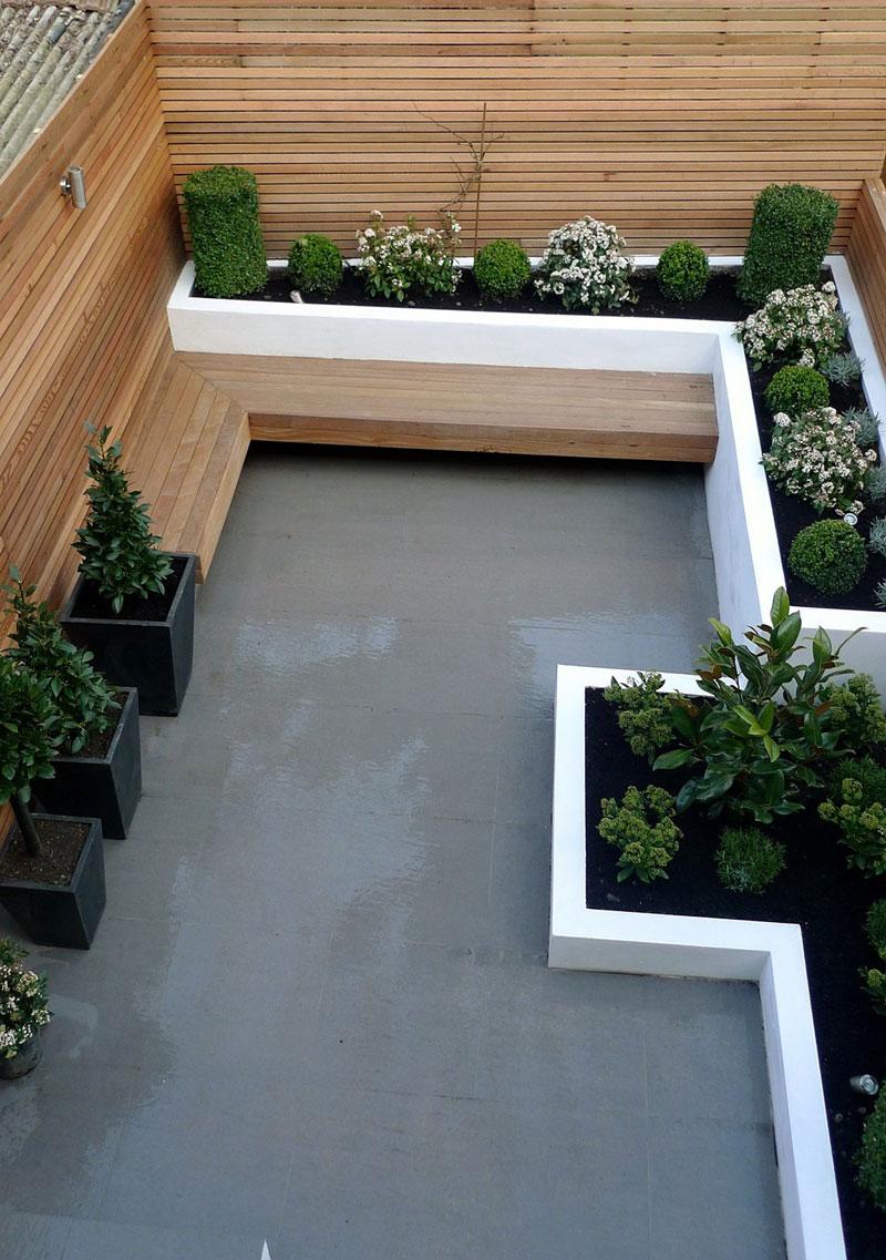 Strakke kleine tuin