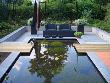 Spiksplinternieuw Strakke tuin met vijver van Berthe | Inrichting-huis.com LT-22