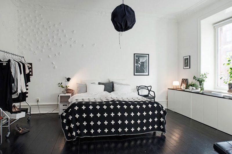 Styling in een Scandinavische slaapkamer