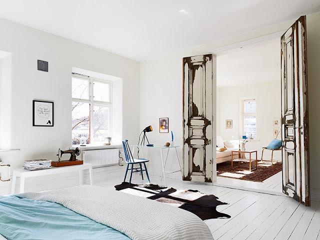 Minimalistische Interieur Inrichting : Zweeds gemixt appartement inrichting huis
